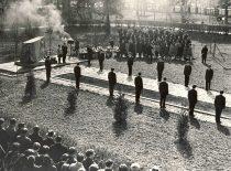 1963 m. KPI Komjaunimo organizacijos iniciatyva prie Cheminės technologijos fakulteto pastatytas paminklas komjaunuoliams, žuvusiems kovoje už sovietų valdžią Lietuvoje. Tais pačiais metais mediumo metu A. Patackas slapta ant jo nupiešė uždraustą Lietuvos trispalvę ir Gedimino stulpus. Kilo didelis skandalas, tačiau kaltininkas nebuvo surastas. Sovietinis paminklas pašalintas 1989 m., prasidėjus tautiniam atgimimui.