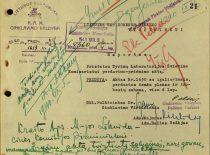 Tyrimų laboratorijos perdavimo universitetui dokumentas, 1940 m. rugpjūtis. (Originalas – Lietuvos centriniame valstybės archyve)
