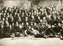 J. Basanavičius su Vilniaus lietuvių folkloristais, 1926 m. (Originalas – KTU bibliotekoje)