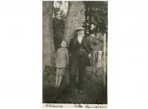 M. Jankus su anūku Jurgiu Bitėnuose, 1930 m. (Originalas – KTU bibliotekoje)