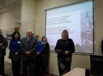 Istorinės prof. K. Vasiliausko medžiagų atsparumo laboratorijos atidarymas, 2015 m.