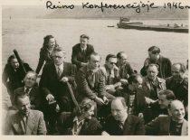 A. Damušis atkuriamojoje Ateitininkų federacijos konferencijoje Reine, 1948 m. (Iš A. Damušio šeimos archyvo)