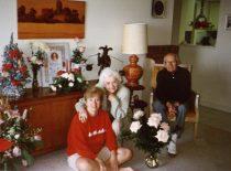 Šv. Kalėdos su dukra Ginte 1983 m. (Iš A. Damušio šeimos archyvo)