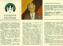 Sąjūdžio kandidato prof. V. Paliūno rinkiminis lapelis, 1989 m. (Iš V. Paliūno archyvo)
