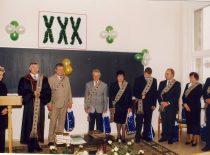 30-asis fakulteto įkūrimo jubiliejus, 1998 m. Dekanas doc. B. Neverauskas sveikina katedrų vedėjus