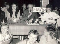 Grupių konkursas, 1988 m. Vertinimo komisijoje – dekanas prof. B. Martinkus.
