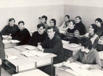 Prof. A. Makarevičius veda seminarą, 1976 m.