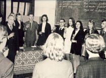 """""""Paskutinis skambutis"""" Inžinerinės ekonomikos fakultete, 1973 m."""