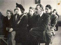 Kauno universiteto Akių ligų katedros vedėjas doc. J. Nemeikša renginyje, 1950 m.