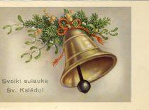 Kalėdinis atvirlaiškis J. Nemeikšai, 1921 m.