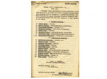 Švietimo liaudies komisaro A. Venclovos įsakymo apie Kauno universiteto Statybos ir Technologijos fakultetų dėstytojų paskyrimus, 1940 m. (Originalas – KTU archyve)