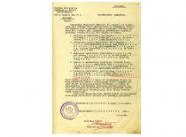 Švietimo ministro įsakymo apie Lietuvos universiteto mokomojo personalo branduolio paskyrimą, 1922 m. vasaris. (Originalas – KTU archyve)