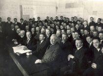 Diplominių projektų gynimas Technikos fakultete apie 1939 m.