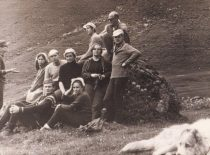 Studijos nariai turistinėje kelionėje Kaukaze, 1970 m.