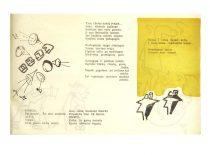 """Leidinyje """"XVI KPI profsąjungų konferencija"""" šmaikščiomis eilėmis aprašyti KPI meno kolektyvai, tarp jų ir teatras, 1966 m. (Originalas – KTU muziejuje"""