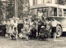KPI teatro studija išvyksta į gastroles po Lietuvą, 1963 m. (Originalas – J. Vengraičio archyve)