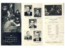 Lankstinukas, skirtas studijos 15-os metų sukakčiai, 1979 m. (Originalas – S. Dubinskaitės-Šablinskienės archyve)