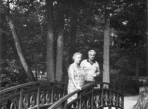 Su žmona Palangoje, Tiškevičiaus parke
