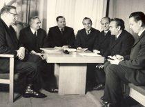 Kauno politechnikos instituto rektoratas, 1972–1975 m. H. Petrusevičius, R. Chomskis, rektorius M. Martynaitis, Č. Jakimavičius, G. Bukauskas, P. Švenčianas ir A. Akelis.
