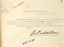 Kauno universiteto Technologijos fakulteto dekano J. Indriūno prašymas skirti R. Chomskį vyr. laborantu,1946 m. (Originalas – KTU archyve)