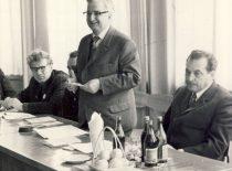 Prorektorius R. Chomskis kalba pasitarime su SSRS aukštųjų technikos mokyklų atstovais, 1973 m.