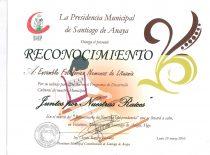 """Santjago de Anaja (Meksika) mero padėka už dalyvavimą kultūros plėtros programoje """"Kartu už savo šaknis"""", 2010 m."""