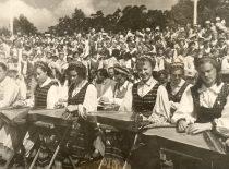 Dainų šventėje, 1960 m. (Originalas – prof. A. Vitkausko archyve)