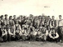 KPI ansamblio orkestras – LSSR aukštųjų mokyklų konkurso laureatas. Vilnius, 1955 m. (Originalas – prof. A. Vitkausko archyve)