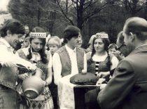 Nemuniečiai KPI kultūros dienose Vilkaviškio rajone, 1974 m. (Bartkevičiaus nuotr.)