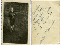 P. Varanauskas su tėvais 1941 m. ištremtas į Sibirą, o 1947 m. mama su 6-erių metų sūnumi pabėgo į Lietuvą. Nuotraukoje P. Varanauskas Lietuvoje, 1951 m.