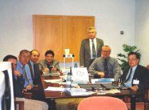 KTU Ultragarsinės matavimo technikos mokslo laboratorijos darbuotojai sūkurinių srovių neardomųjų bandymų EN 473 II lygio mokymo kursuose TECNATOM centre Madride 1997 m.