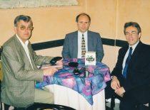 R. Kažys, L. Mažeika ir Nader Samari (London University) 1999 m.