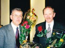 1999 m. Lietuvos mokslo premijos laureatai R. J. Kažys ir A. Lukoševičius