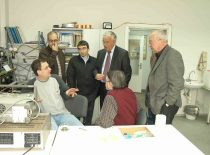 BP6 programos projekto TROY susitikimo Ultragarso institute metu, 2008 m. T. Vasile, G. Goncalves, A. Mascioleti, R. Kažys, I. Stoian, R. Šliteris