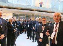 """KTU mokslo slėnio """"Santaka"""" atidarymas, 2014 m. Europos komisaro Moed'o vizitas."""