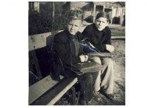 """Antisovietinės moksleivių organizacijos """"Geležinis vilkas"""" vadovai S.Naglis ir A. Karoblis. Joniškėlis, 1955–1956 m."""