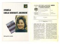 1972 m. ulragarso laboratorijos mokslo darbuotoja L. Sereikaitė-Juozonienė atrado ir aprašė naują fizikinį reiškinį – paviršines išilgines bangas. Nuotraukoje: knyga apie L. Juozonienę bei 1965 m. padaryto išradimo apie ultragarso greičio kietuose kūnuose matavimo metodą aprašymas