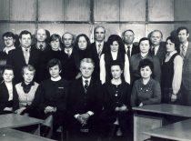 V. Paliūnas su KPI Teorines mechanikos katedros kolektyvu, 1983 m.
