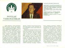 P. Varanausko – Sąjūdžio kandidato į LSSR Aukščiausiąją Tarybą reklaminis lapelis, 1990 m.