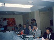 Lietuvos Respublikos Tarpparlamentinių ryšių su Čečėnijos Respublika Ičkerija grupės pirmininko pavaduotojas A. Patackas konferencijoje dėl Čečėnijos Stambule, 1996–2000 m.