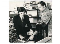 Vyr. mokslo darbuotojas dr. P. Milius ir inž. J. Butkus, 1985 m.