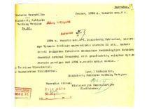 Ministrų kabineto reikalų vedėjo leidimas VDU Technikos fakulteto doc. A. Gravrogkui dirbti Geležinkelių valdyboje vyr. referentu, 1934 m. (Originalas – KTU archyve)