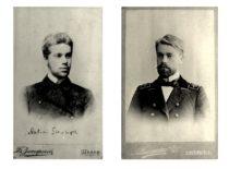 Antano Julijono Gravrogko portretai: kairėje – Šiaulių gimnazijos gimnazistas, dešinėje – Peterburgo technologijos instituto studentas. (Gravrogkų archyvo nuotr.)