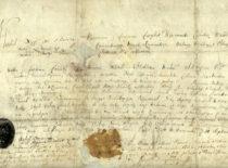 LDK kanclerio Korybuto Wiśniowieckio raštas, įteiktas grafui Krzystofui Wladyslawui Grawrogkui, 1733 m. (Originalas – LMA Vrublevskių bibliotekoje)