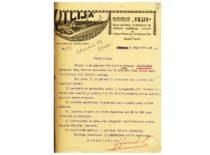 """Bendrovės """"Vilija"""" liudijimas apie tai, kad A. Gravrogkas 1916–1919 m. buvo šios bendrovės techninis vadovas, 1919 m. (Originalas – KTU archyve)"""