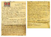 A. Gravrogko pareiškimas Aukštųjų kursų tarybai, 1922 m. (Originalas – KTU archyve)