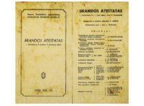 "Spektaklio ""Brandos atestatas"" programa, 1950 m."
