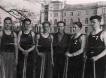 Statybos fakulteto miestučių žaidimo komanda, 1950 m. (Originalas – KTU muziejuje)
