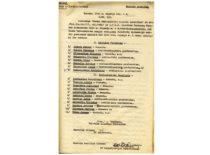 LSSR švietimo liaudies komisaro A. Venclovos įsakymo nuorašas dėl Kauno universiteto Statybos ir Technologijos fakultetų vyresniojo mokslo personalo skyrimo, 1940 m. rugsėjo 4 d. (Originalas – KTU archyve)