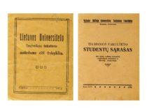 Technikos fakulteto leidiniai 1922–1932 m.